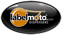 LabelMoto, Industrial Electric / Automatic Label Dispensers, Made in the USA Logo